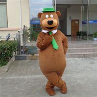 Wholesale Yogi Bear Mascot Costume - new designed adult plush yogi bear mascot costumes for party good quality free shipping custom made