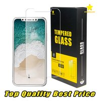 Wholesale Screen Protector Tempered - For Iphone 8 Plus iPhone X 7 Plus TopQuality BestPrice Tempered Glass Screen Protector 0.2MM 2.5D Ship Out Within 1 Day