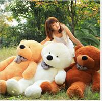 "Wholesale Toy Bear Foot - 2018 Factory direct sale Free Shipping 6 FEET TEDDY BEAR STUFFED LIGHT BROWN GIANT JUMBO 71"" size:160cm"