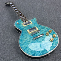 """Wholesale Cover Photo New Flower - NEW High quality Light blue burst electric guitar ,Big flower cover top"""" Real photos free shipping"""