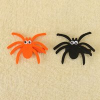 Wholesale Grossgrain Ribbons Bows - 20Pcs Lot Girls Cute Spider Halloween Ribbon Hair Bow With Clip Grossgrain Ribbon Hairpin Barrettes Hairgrips Beautiful HuiLin AW69