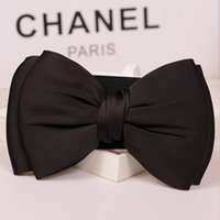 Wholesale Genuine Leather Skirts For Women - Wholesale- 2017 Chic Bow Women Sashes Beautiful Decorations Belts Hot Selling Formal Cummerbund For Dresses Or Skirts Free Shipping