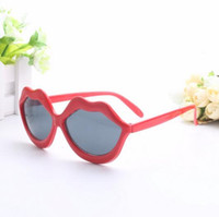Wholesale Lips Birthday Party - Funny Red Lips Party Glasses Novelty Sunglasses for Birthday and Festival Party Supplies Decoration 10pcs lot Free Shipping