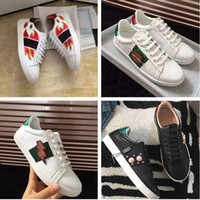 Wholesale Fashion Show Fall - 2017 Luxury Brand High Quality Man Woman Casual Shoes Fashion Designer Appliques Pearl White Cheap Sneaker Show Shoe With Box Size 35-44