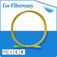 Wholesale Fiber Apc - 1pcs Single mode Simplex Fiber Optic Patch Cable SC APC-SC APC 9 125um PVC 3.0mm 15m