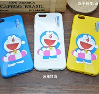 Wholesale iphone cases doraemon online - phone case accessories for iphone7 iphone s plus soft TPU painting cover case Doraemon cartoon protector cover case GSZ058B