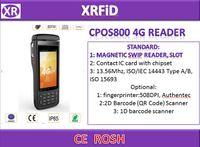 uhf module venda por atacado-CPOS800 4G IP65 À Prova D 'Água À Prova de Choque À Prova de Choque RFID pad reader com GPS rfid nfc uhf módulo fingerprinter código de barras leitor RFID 4G livre SDK