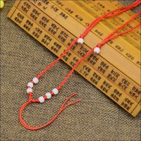Wholesale Pendant For Beading - Craft wire necklace cord String Rope Wire beading wires DIY White bead jewelry component length 45-60cm diameter 2.0mm for Pendant