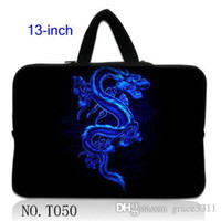 """Wholesale Neoprene Netbook Bag Sleeve - Blue Dragon Netbook Laptop Sleeve Case Bag Pouch Cover For 13"""" inch 13.3"""" Macbook Pro   Air"""