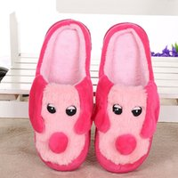 Wholesale Christmas Novelty Fabric - Big Size Emoji Smile Plush Novelty Slipper Shoes 28cm Emoji Soft Warm Household Winter for Women and Man Embroidery Slippers Christmas Gift