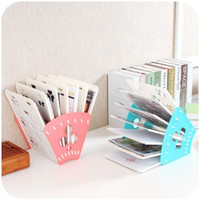 Wholesale Papers Office Organizer - Wholesale-Creative Office Desk Organizer Pastic Magazine File Boxes A4 Paper File Document Desk Tray Organizer