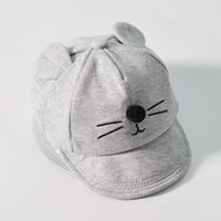 ingrosso cappelli da baseball progettati da cartone animato-New Baby Hat con disegno Cartoon Cat Cappello da baseball per bambini Boy and Girls Cappello da sole Summer Cotton Mesh Caps Girls Visors