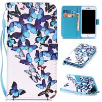 Wholesale i phone card case - Magnetic Case For Apple iPhone 7 fashion Luxury Painting PU Leather Case Card Slot Stand Wallet Phone Cover For Apple iPhone7 i Phone7