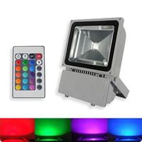 yüksek güçlü rgb spot ışığı toptan satış-5 adet paketi 100 W LED SMD RGB IR 24 Tuşları Sel ışık Yüksek Güç Spotlight IP65