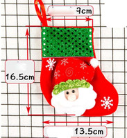 Wholesale Noel Christmas Ornament - Christmas Decoration Small Socks Christmas Gift Small Christmas Stocking Gift Bag Candy Bag Tree Xmas Noel Ornaments for Home