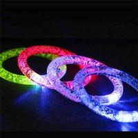 glühender kristall führte großhandel-LED Armband leuchten blinkend Glühendes Armband Blinkendes Kristallarmband Party Disco bestes Geschenk DHL geben frei
