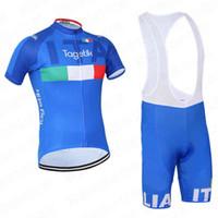 Wholesale Cycling Bibs Italia - 2016 Italia Summer Cycling Jerseys Ropa Ciclismo Breathable Bike Clothing Quick-Dry Bicycle Sportwear Ropa Ciclismo GEL Pad Bike Bib Pants