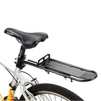 Wholesale Wholesale Bicycle Panniers - MTB Bike Bicycle Aluminum Alloy Rack Carrier Panniers Bag Carrier Adjustable Rear Seat Luggage Cycling Shelf Bracket 2505036