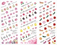 Wholesale 3d Japan Nail Stickers - 2015 new Export JAPAN Quality cute 211-213 beauty best NEWEST 3 pieces Popular 3d nail art stickers decal popular in japan