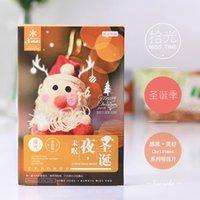 Wholesale Photography Greeting Cards - Wholesale- New Design Creative Christmas Eve Noctilucent Souvenir Photography Scenic Greeting Card Gifts Collection Fantanstic Postcard PL