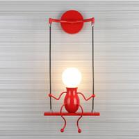 modernos, parede, luzes, quarto venda por atacado-Criativo nórdico lâmpada incandescente led lâmpada de parede luz da noite sentado quarto moderno decoração luzes estudo crianças lâmpadas de casamento quente dom