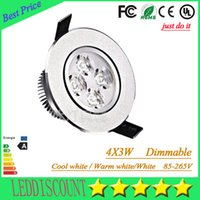 Wholesale Led Bathroom Light Bulbs - 20pcs 9W 12W Downlights Dimmable led Bulbs 85-265V Recessed lighting led spot light with led driver 3years warranty