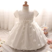 Wholesale Elegant Children Dresses - Elegant Newborn Baby Girl Birthday Christening Wedding Party Pageant Dress Baby First Communion and Toddler Gowns Child Bridesmaid Clothing