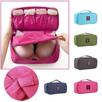 Wholesale Pc Vaccum - 1 PCS Portable Protect Bra Underwear Lingerie Case Travel Organizer Bag wardrobe organizer Waterproof travel accessories