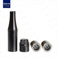 Wholesale Forge Fitting - Forge Plus Dual Quartz Coil Atomizer with Adjustable Airflow Splash Prevention Mouthpiede fit eGo evod Battery most efficient wax consistenc