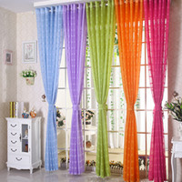 Wholesale Fashion Curtains Wholesalers - Sheer Curtains Living Room Drapes Elegant Curtain Sheer Window Screening Brief Fashion Punching Gauze 42W 50W 72W Multi Colors 1 Panel