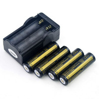 4 x Ultra Fire 18650 3.7V 4000mAH Batteria ricaricabile al litio BlackGolden, batterie BRC 18650 Li-Ion con caricabatterie