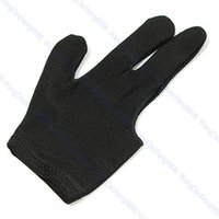 5pcs / lot Queue-Billiard-Pool-Schützen 3 Finger-Handschuh-Schwarzes
