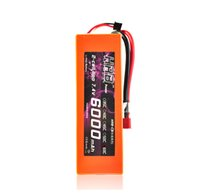 Wholesale Hrb Battery - Remote Control Parts Accs HRB RC Car Lipo Battery 2S 7.4V 6000mah 60C 120C Orange Hard Case For Airplane Traxxas Car Monster Truck