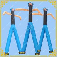 sopladores de aire para inflables al por mayor-Envío al por mayor-libre Inflable Popeye Air Dancer con 2 sopladores gratis, publicidad Sky Dancer para eventos