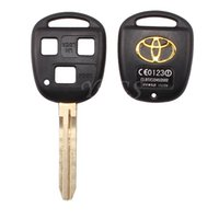 Wholesale Toyota Camry Car Key Blanks - High Quality For Toyota Camry 3 Buttons Remote Key Shell Car Keys Blank Case With Toy43 Blade Free Shipping