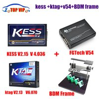 Wholesale Kess V2 - Wholesale-Best match! New Generation ECU programming KTAG V2.13 KTAG No Tokens Limitation + kess v2 V2.15 V4.036 +FG tech V54 + BDM frame