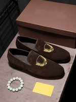 Wholesale Mens Pumps Shoes - Luxury Brand Loafers Dress Flat Pumps Mens Shoes Suede Leather Fashion Lowtop Shoes Sneakers Made in Italy Size 38-44