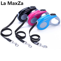 Wholesale free led dog collar online - 2018 New Arrival Dog Leads Retractable Leashes Small Size M For Dog Walking Automatic Adjustable Leashes