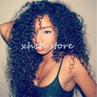 Wholesale Deep Curly Real Hair - Malaysian Virgin Hair 100% Real Human Hair Deep Curly Full Lace Wig   Lace Front Wig Kinky Curly Virgin Hair Hand Made