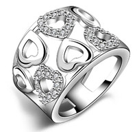 Wholesale Love Bands Price - Sterling Silver Love Women Ring Zricon Jewelry Fashion Heart Cute Engagement Gorgeous Wholesale Factory Price New