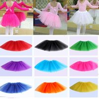 Wholesale White Pettiskirt For Kids - Baby Girls Children Kids Dancing Tulle Tutu Skirts Pettiskirt Dancewear Tutu dresses Ballet Dress Skirts Costume for Party Christmas
