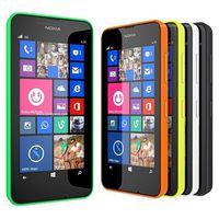 Wholesale dual windows - Original Refurbished Nokia Lumia 630 Windows Phone Single SIM 4.5 inch Quad Core Dual Sim Window Phone ROM 8GB 5MP Camera 3G WCDMA Cell Phon