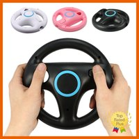 Wholesale Steering Wheel Kart Racing - Racing Game Mario Kart Steering Wheel for Nintendo Wii Controller White Black Pink 3 color without Remote & Nunchuck