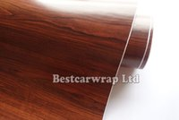 Wholesale Glue Grain - Matte Woodgrain Vinyl Wrap Vinyl Film With air bubble free Wood Grain Car Wrap Vinyl foil 3m quality Size 1.52x20m  Roll Free Shipping