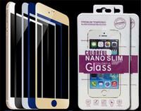 ingrosso lastre di vetro iphone-Pellicola proteggi schermo in vetro temperato per vetri colorati a prova di esplosione per Iphone 5 6s 6 Plus 6plus SE con scatola al minuto