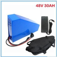 Wholesale Used Motors - High capacity 48v motor lithium battery 750-1200W 48V 30AH triangle battery with bag,use samsung 3000mah cell with 2A charger