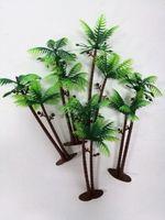 ingrosso case da giardino in miniatura-5 pollici altezza LOT 5 palme da cocco Twin alberi di cocco alberi acquari terrari in miniatura giardino fata giardini casa di bambola cake topper res