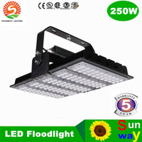 Wholesale water proof led lighting - Ultra thin LED Flood light 250W finned radiator Luxeon floodlight IP65 water proof project high-pole lamps AC85-265V 3years warranty