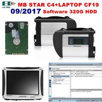 Alta qualità MB STAR C4 OBD2 Scanner C4 + Laptop CF19 + 2017/09 software 500G HDD con DTS / Vediamo per Mercedes Benz autocarri
