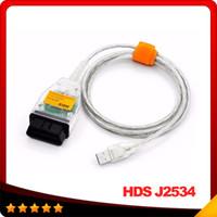 alet j2534 toptan satış-HDS J2534 v1.4.1 OBDII OBD2 Teşhis Kablosu J2534 Honda CAN Otobüs Teşhis Aracı Için Yüksek Kalite Ile Ücretsiz kargo